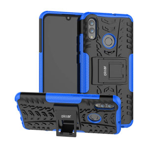 Protect your Huawei P Smart 2019 from bumps and scrapes with this blue ArmourDillo case. Comprised of an inner TPU case and an outer impact-resistant exoskeleton, the ArmourDillo provides robust protection and supreme styling.