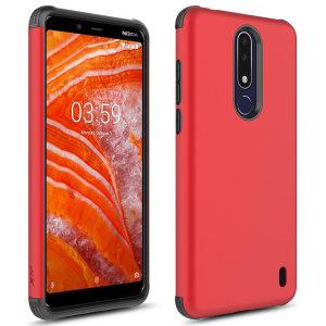 Perfetto per i proprietari di Nokia 3.1 che cercano di fornire una protezione squisita che non comprometta il design elegante di Nokia, la custodia Zizo Sleek Hybrid in rosso combina il perfetto livello di protezione con un design ultrasottile e leggero.