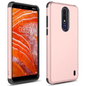 Perfect for Nokia 3.1 owners looking to provide exquisite protection that won't compromise Nokia's sleek design, the Zizo Sleek Hybrid case in Rose Gold combines the perfect level of protection with ultra-thin and lightweight design.