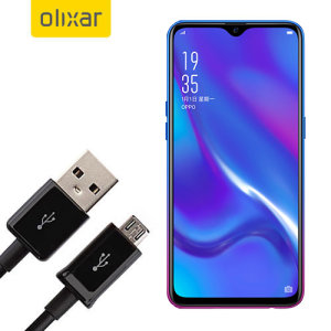 This 1 meter data / charging cable from Olixar allows you to connect your Oppo RX17 Neo to a PC via Micro USB. It supports charging currents over 2 amps, so your Oppo RX17 Neo can be up and running from flat in no time.