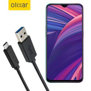 Zorg ervoor dat uw Oppo RX17 Pro altijd volledig is opgeladen en gesynchroniseerd met deze compatibele USB 3.1 Type-C Male naar USB 3.0 mannelijke kabel. U kunt deze kabel gebruiken met een USB-wandlader of via uw desktop of laptop.