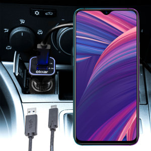 Keep your Oppo RX17 Pro fully charged on the road with this compatible Olixar high power dual USB 3.1A Car Charger with an included high quality USB to USB-C charging cable.