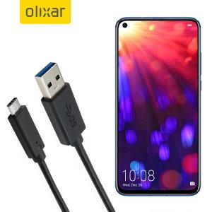 Asegúrese de mantener su Honor View 20 cargada y sincronizada gracias a este cable USB-C de Olixar. Podrá utilizar este cable con un cargador de pared, de coche, un ordenador etc ...
