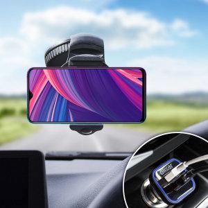 Mantenga seguro su Oppo RX17 Pro mientras viaja gracias a este pack de coche Olixar DriveTime que incluye un cargador y un soporte de coche.