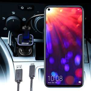 Keep your Huawei Honor View 20 fully charged on the road with this compatible Olixar high power dual USB 3.1A Car Charger with an included high quality USB to USB-C charging cable.
