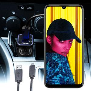 Houd je Huawei P Smart 2019 volledig opgeladen op de weg met deze compatibele Olixar-oplader voor high power-auto's.