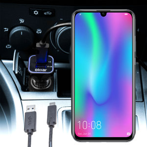 Keep your Huawei Honor 10 Lite fully charged on the road with this compatible Olixar high power dual USB 3.1A Car Charger with an included high quality USB to Micro-USB charging cable.