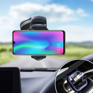 Hold your phone safely in your car with this fully adjustable DriveTime car holder for your Honor 10 Lite.