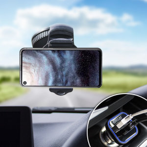 Essential items you need for your smartphone during a car journey all within the Olixar DriveTime In-Car Pack. Featuring a robust one-handed phone car mount and car charger with an additional USB port for your Samsung Galaxy A8s.