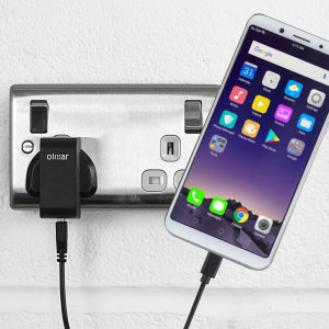 Charge your Oppo F5 quickly and conveniently with this compatible 2.4A high power charging kit. Featuring mains adapter and USB cable.