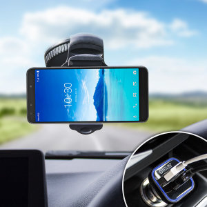 Hold your phone safely in your car with this fully adjustable DriveTime car holder for your Alcatel 7