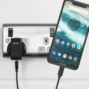 Charge your Motorola One and any other USB device quickly and conveniently with this compatible 2.5A high power USB-C UK charging kit. Featuring a UK wall adapter and USB-C cable.
