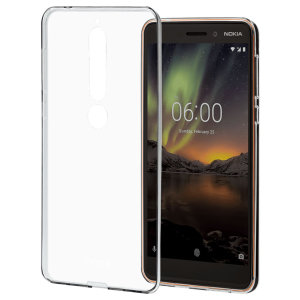 This sleek transparent gel case allows the stunning design of your Nokia 6.1 to shine through while still enjoying considerable protection. A firm non-slip grip and access to all functions make this case a clear choice.