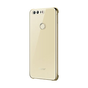 This official Huawei clear and gold protective case for Honor 8 offers excellent protection while maintaining your device's sleek, elegant lines. Reinforced corners provide extra shock absorption.