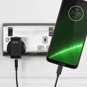 Charge your Motorola Moto G7 and any other USB device quickly and conveniently with this compatible 2.5A high power USB-C UK charging kit. Featuring a UK wall adapter and USB-C cable.