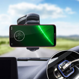 Hold your phone safely in your car with this fully adjustable DriveTime car holder for your Motorola Moto G7