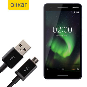 This 1 meter data / charging cable from Olixar allows you to connect your Oppo RX17 Neo to a PC via Micro USB. It supports charging currents over 2 amps, so your Nokia 2.1 can be up and running from flat in no time.