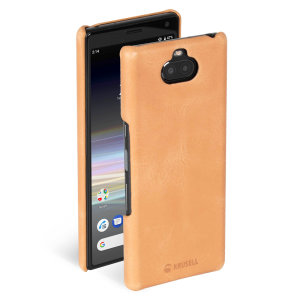 The Useful Sunne Case Sony Xperia 10 Vintage nude has a slim design and is made with genuine leather folded around the phone. Allowing you to easily store your cards into your phone.