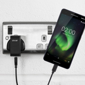 Charge your Nokia 2.1 quickly and conveniently with this compatible 2.5A high power charging kit. Featuring mains adapter and USB cable.