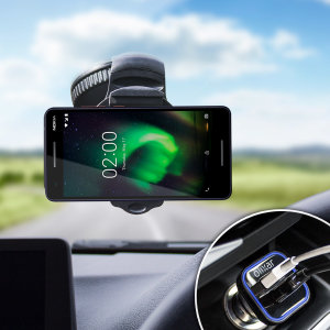 Essential items you need for your smartphone during a car journey all within the Olixar DriveTime In-Car Pack. Featuring a robust one-handed phone car mount and car charger with an additional USB port for your Nokia 2.1.