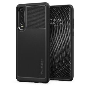 Meet the newly designed rugged armor case for the Huawei P30. Made from flexible, rugged TPU and featuring a mechanical design, including a carbon fibre texture, the rugged armor tough case in black keeps your phone safe and slim..