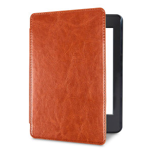This stylish brown leather-style folio case from Olixar will protect your Kindle Paperwhite 4 (2018) from all kinds of knocks.