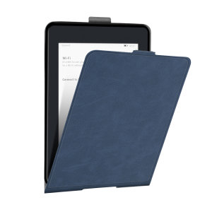 This stylish blue leather-style folio case from Olixar will protect your Kindle Paperwhite 4 (2018) from all kinds of knocks.