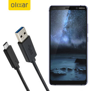 Make sure your Nokia 9 PureView is always fully charged and synced with this compatible USB 3.1 Type-C Male To USB 3.0 Male Cable. You can use this cable with a USB wall charger or through your desktop or laptop.