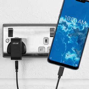Charge your LG G7 One and any other USB device quickly and conveniently with this compatible 2.5A high power USB-C UK charging kit. Featuring a UK wall adapter and USB-C cable.