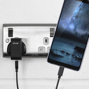 Charge your Nokia 9 PureView and any other USB device quickly and conveniently with this compatible 2.5A high power USB-C UK charging kit. Featuring a UK wall adapter and USB-C cable.