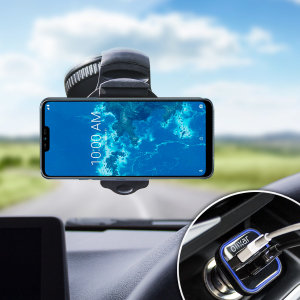 Hold your phone safely in your car with this fully adjustable DriveTime car holder for your  LG G7 One.