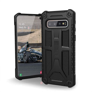 The Urban Armour Gear Monarch in black for the Samsung Galaxy S10 is quite possibly the king of protective cases. With 5 layers of premium protection and the finest materials, your Galaxy S10 is safe, secure and in some style too.