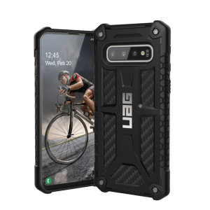 The Urban Armour Gear Monarch in Carbon Fiber for the Samsung Galaxy S10 is quite possibly the king of protective cases. With 5 layers of premium protection and the finest materials, your Galaxy S10 is safe, secure and in some style too.