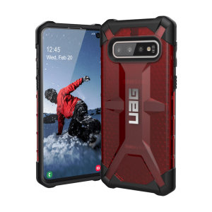 The Urban Armour Gear Plasma for the Samsung Galaxy S10 features a protective TPU case in Magma with a brushed metal UAG logo insert for an amazing design and excellent protection from scrapes, bumps and scratches.