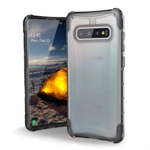 The Urban Armour Gear Plyo semi-transparent tough case in Ice for the Samsung Galaxy S10 Plus features reinforced Air-Soft corners and an optimised honeycomb structure for superior drop and shock protection.