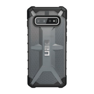 The Urban Armour Gear Plasma for the Samsung Galaxy S10 Plus features a protective TPU case in Ash with a brushed metal UAG logo insert for an amazing design and excellent protection from scrapes, bumps and scratches.