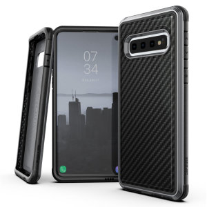 The X-Doria Defense Lux in Black Carbon Fiber print is an incredibly stylish and protective case for your Samsung Galaxy S10. Tested to survive 6.6ft drops onto concrete the defense lux provides excellent protection and is extremely easy to install.