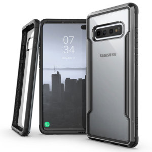 The X-Doria Defense Shield in a black frame and clear back is an incredibly stylish and protective case for your Samsung Galaxy S10 Plus. Tested to survive a 10ft drop onto concrete the Defense Shield provides excellent protection.