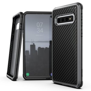 The X-Doria Defense Lux in Black Carbon Fiber print is an incredibly stylish and protective case for your Samsung Galaxy S10 Plus. Tested to survive 6.6ft drops onto concrete the defense lux provides excellent protection and is extremely easy to install.