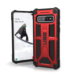 The Urban Armour Gear Monarch in Crimson for the Samsung Galaxy S10 is quite possibly the king of protective cases. With 5 layers of premium protection and the finest materials, your Galaxy S10 is safe, secure and in some style too.
