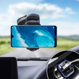 Essential items you need for your smartphone during a car journey all within the Olixar DriveTime In-Car Pack. Featuring a robust one-handed phone car mount and car charger with an additional USB port for your Huawei Honor 8X Max.