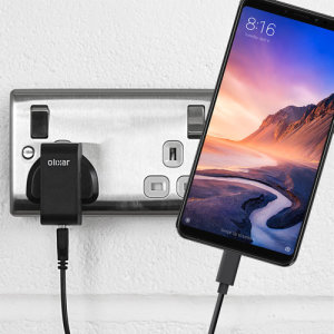 Charge your Xiaomi Mi Max 3 and any other USB device quickly and conveniently with this compatible 2.5A high power USB-C UK charging kit. Featuring a UK wall adapter and USB-C cable.