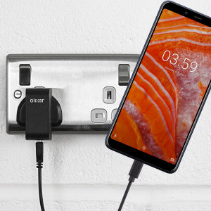 Charge your Nokia 3.1 Plus quickly and conveniently with this compatible 2.5A high power charging kit. Featuring mains adapter and USB cable.