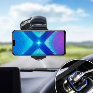 Essential items you need for your smartphone during a car journey all within the Olixar DriveTime In-Car Pack. Featuring a robust one-handed phone car mount and car charger with an additional USB port for your Huawei Honor 8X.