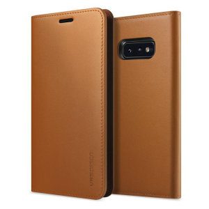 Protect your Samsung Galaxy S10e with this precisely designed flip case in brown from VRS Design. Made with genuine premium leather, the VRS Design Diary oozes style and attractiveness.