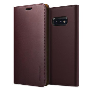 Protect your Samsung Galaxy S10e with this precisely designed flip case in wine from VRS Design. Made with genuine premium leather, the VRS Design Diary oozes style and attractiveness.