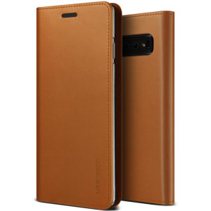 Protect your Samsung Galaxy S10 with this precisely designed flip case in brown from VRS Design. Made with genuine premium leather, the VRS Design Diary oozes style and attractiveness.