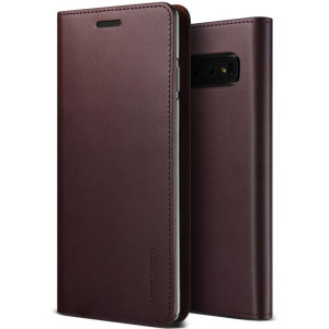 Protect your Samsung Galaxy S10 with this precisely designed flip case in wine from VRS Design. Made with genuine premium leather, the VRS Design Diary oozes style and attractiveness.