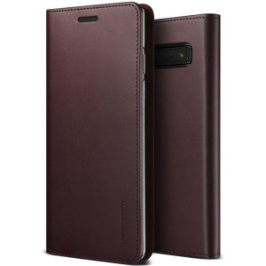 Protect your Samsung Galaxy S10 Plus with this precisely designed flip case in wine from VRS Design. Made with genuine premium leather, the VRS Design Diary oozes style and attractiveness.