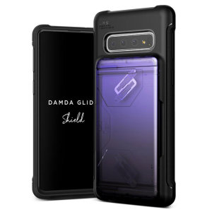 Protect your with the Damda Glide Solid Series Samsung Galaxy S10 case in purple / black from VRS Design. Made with tough yet slim material, this hardshell construction with soft core features patented sliding technology to store two credit cards or ID.